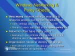 windows networking policy objects