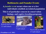 bottlenecks and founder events1