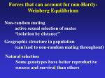 forces that can account for non hardy weinberg equilibrium