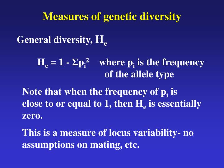 Measures of genetic diversity