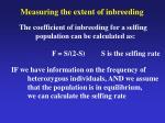 measuring the extent of inbreeding1