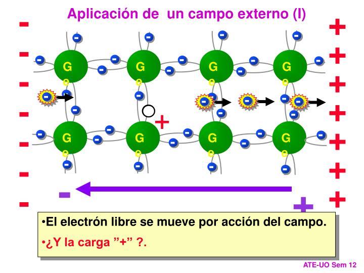 Aplicación de  un campo externo (I)