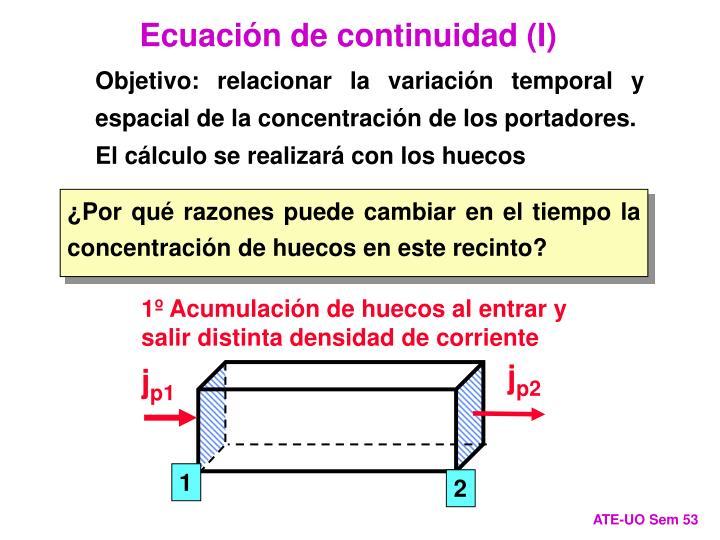Ecuación de continuidad (I)