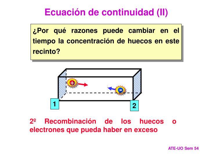 Ecuación de continuidad (II)