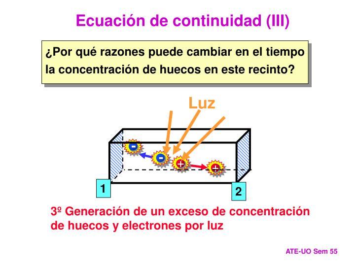 Ecuación de continuidad (III)