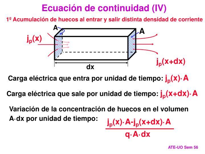 Ecuación de continuidad (IV)