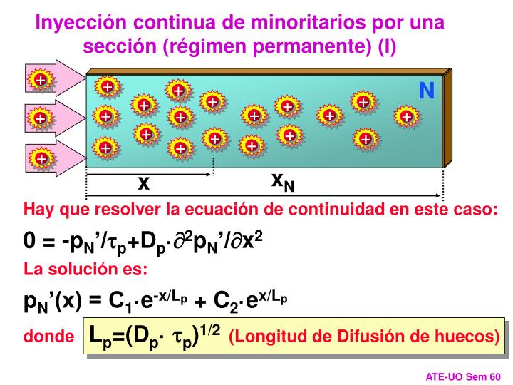 Inyección continua de minoritarios por una sección (régimen permanente) (I)
