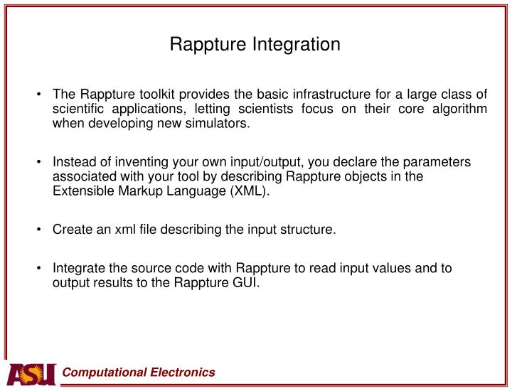 Rappture Integration