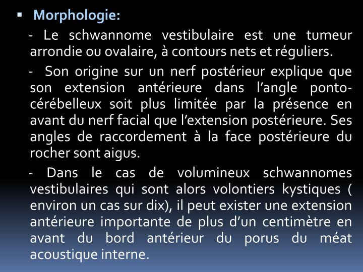 Morphologie: