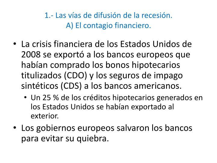 1.- Las vías de difusión de la recesión.