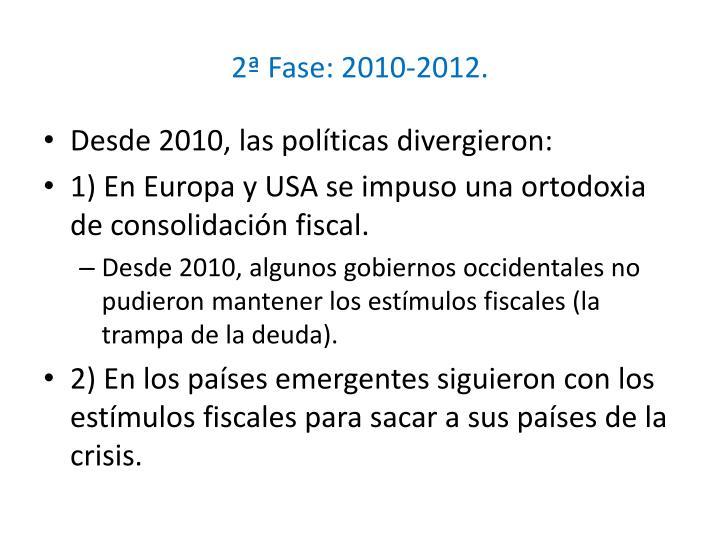 2ª Fase: 2010-2012.