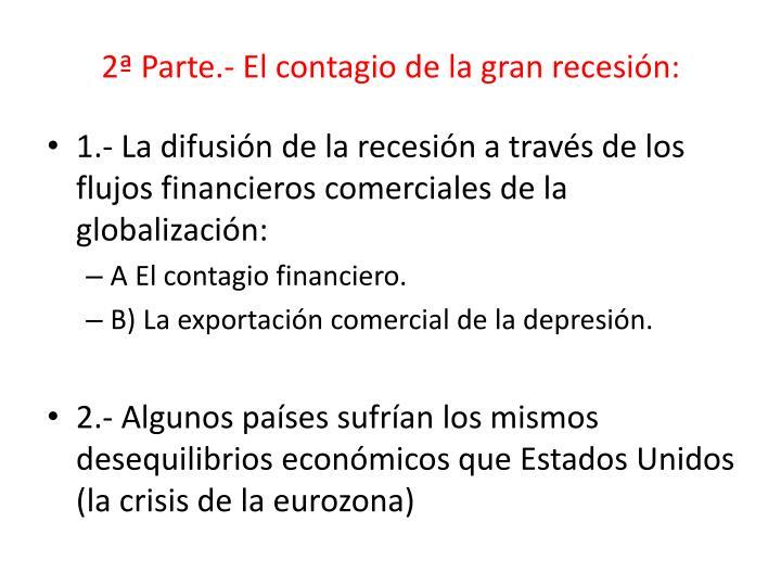 2ª Parte.- El contagio de la gran recesión: