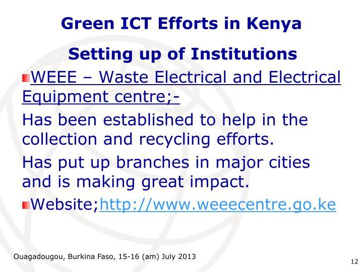 Green ICT Efforts in Kenya