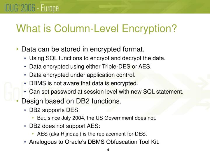 What is Column-Level Encryption?
