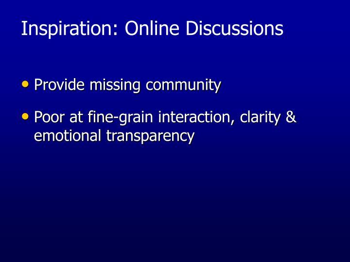 Provide missing community