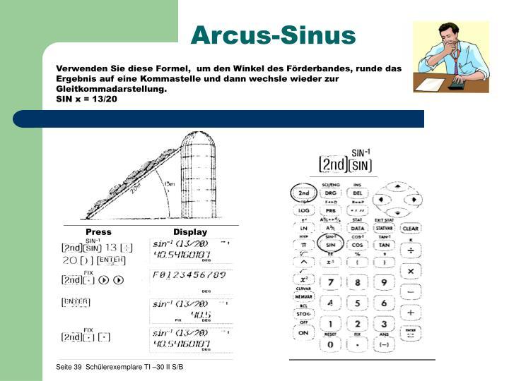 Arcus-Sinus