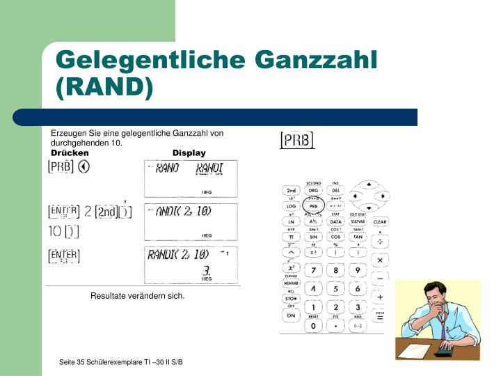 Gelegentliche Ganzzahl (RAND)
