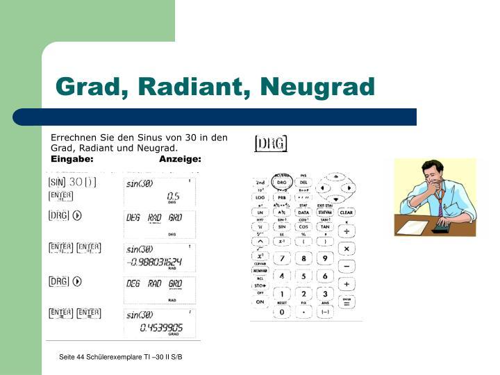 Grad, Radiant, Neugrad