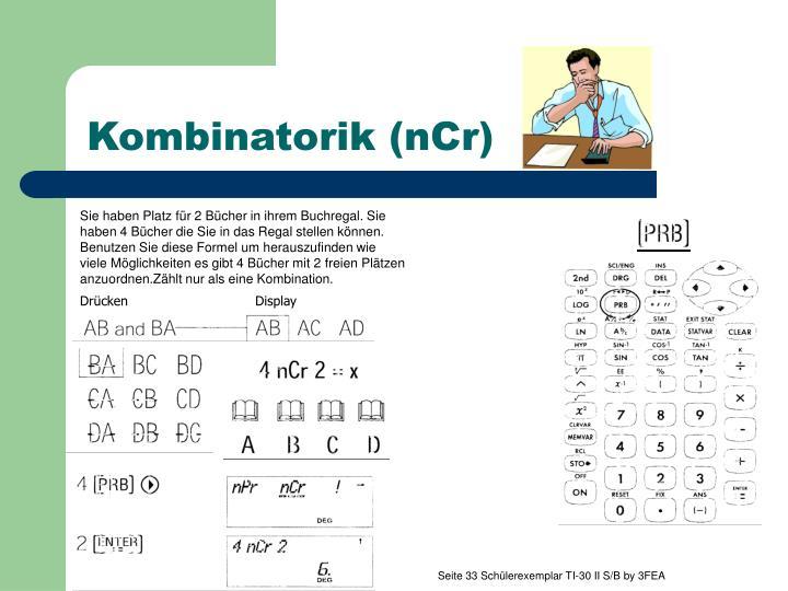 Kombinatorik (nCr)