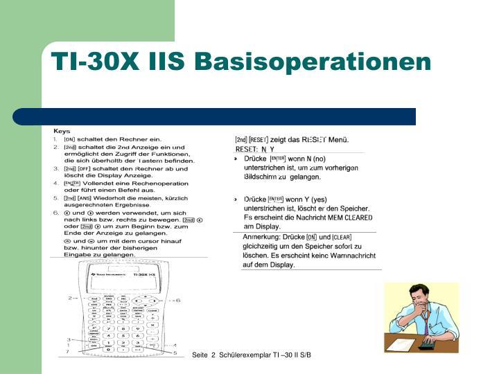 TI-30X IIS Basisoperationen