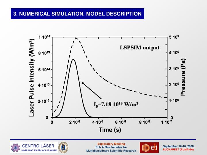 3. NUMERICAL SIMULATION. MODEL DESCRIPTION