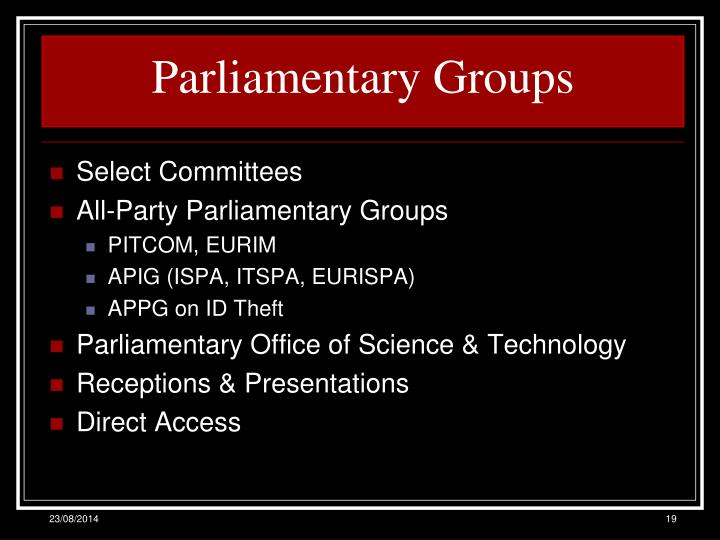 Parliamentary Groups