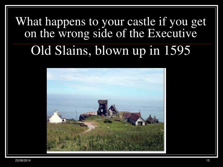 What happens to your castle if you get on the wrong side of the Executive