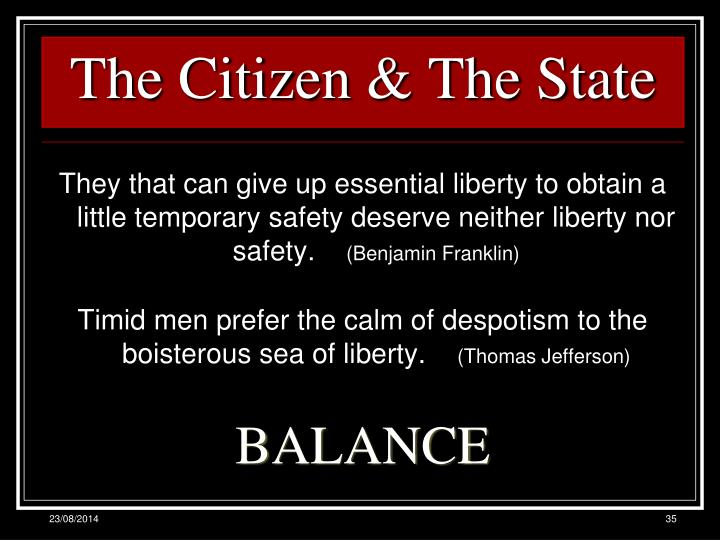 The Citizen & The State