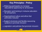 key principles policy