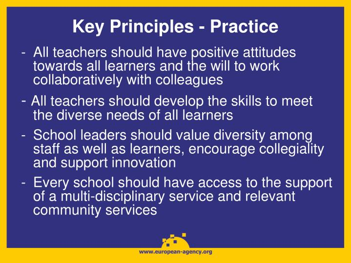 Key Principles - Practice