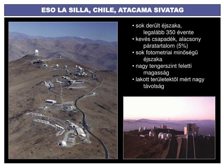 ESO LA SILLA, CHILE, ATACAMA SIVATAG