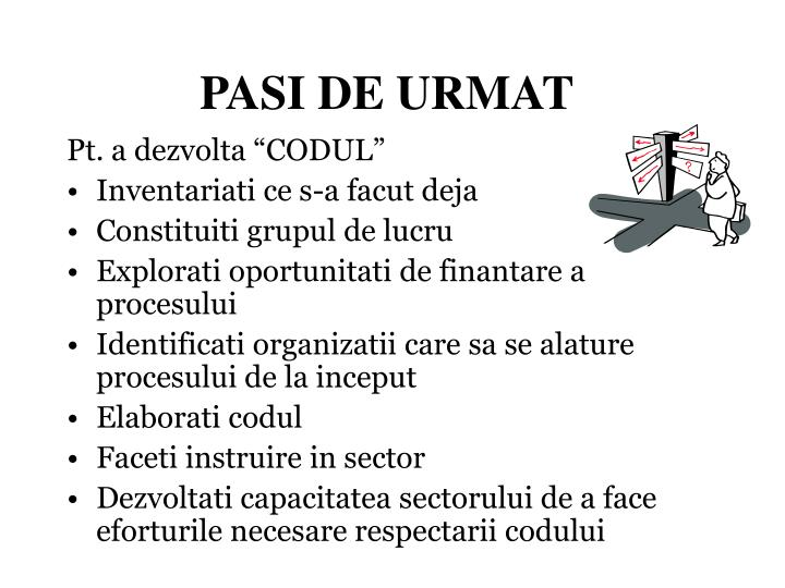 PASI DE URMAT