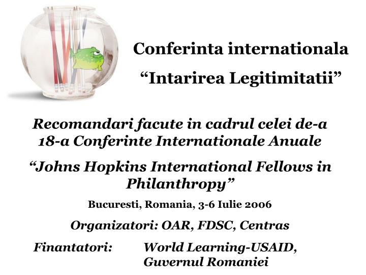 Conferinta internationala
