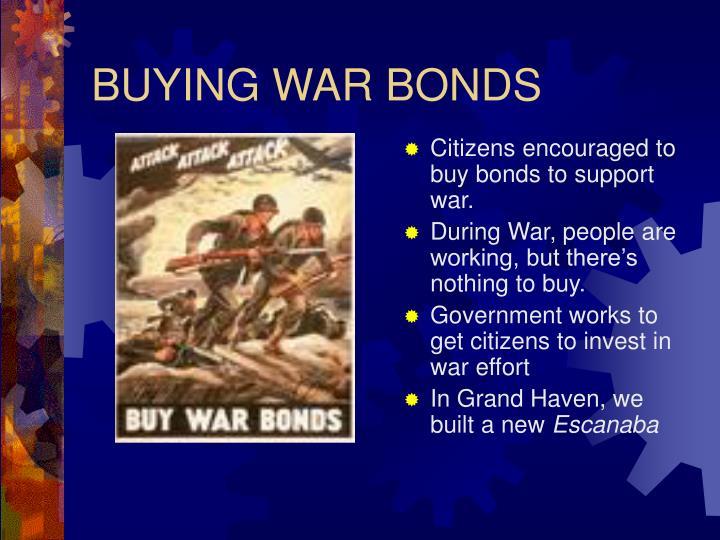 BUYING WAR BONDS