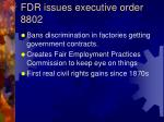 fdr issues executive order 8802