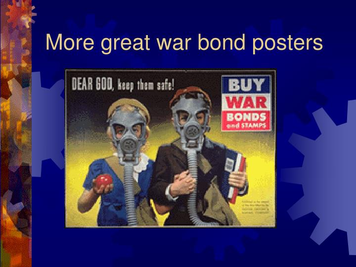 More great war bond posters