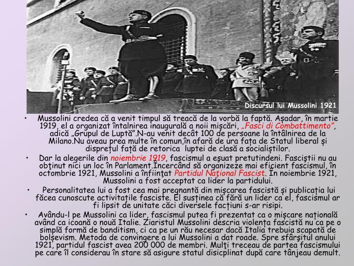 Mussolini credea c