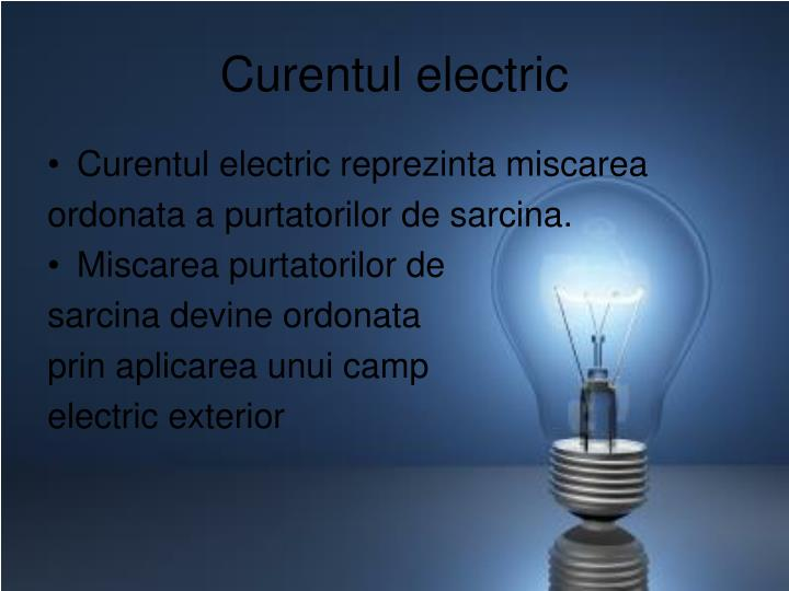 Curentul electric