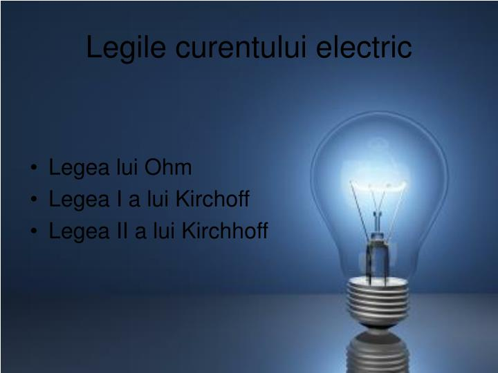 Legile curentului electric