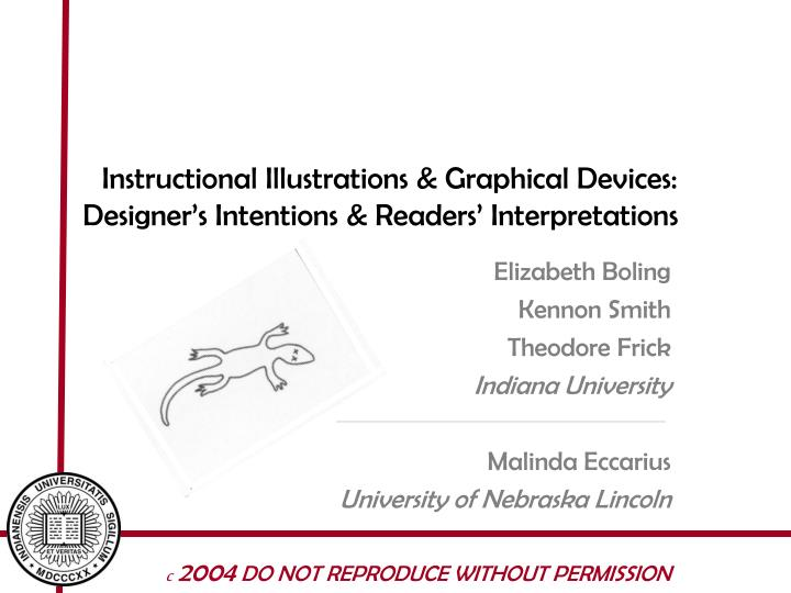 Instructional illustrations graphical devices designer s intentions readers interpretations