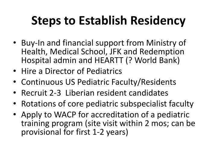 Steps to Establish Residency