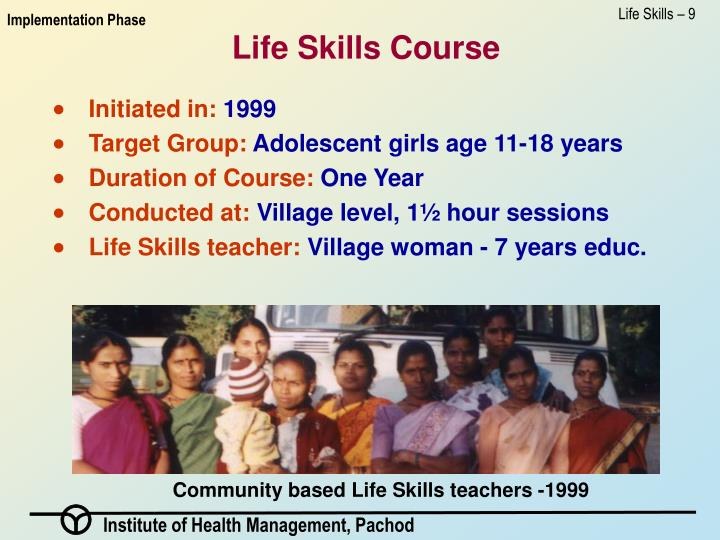 Life Skills – 9