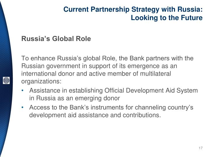 Current Partnership Strategy with Russia: