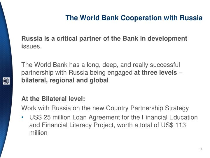 The World Bank Cooperation with Russia