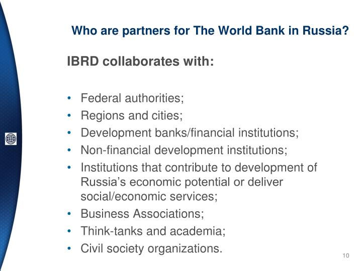 Who are partners for The World Bank in Russia?