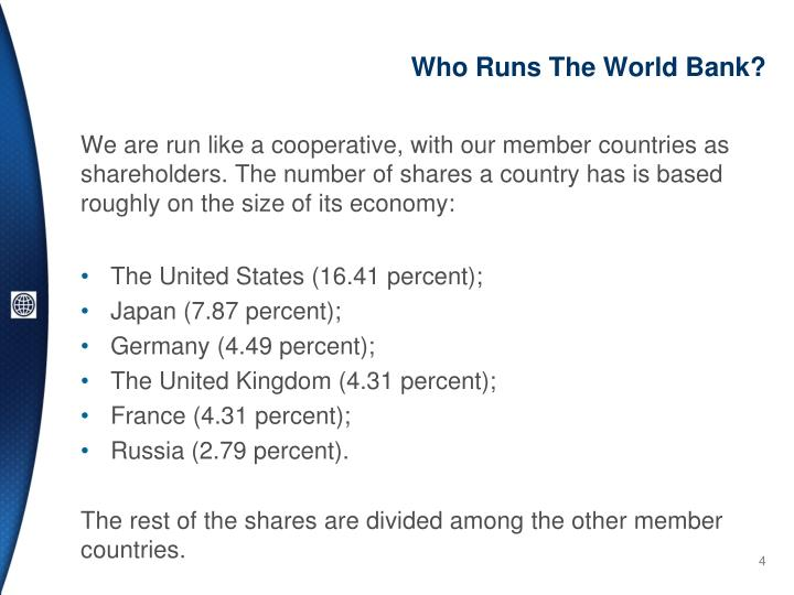 Who Runs The World Bank?