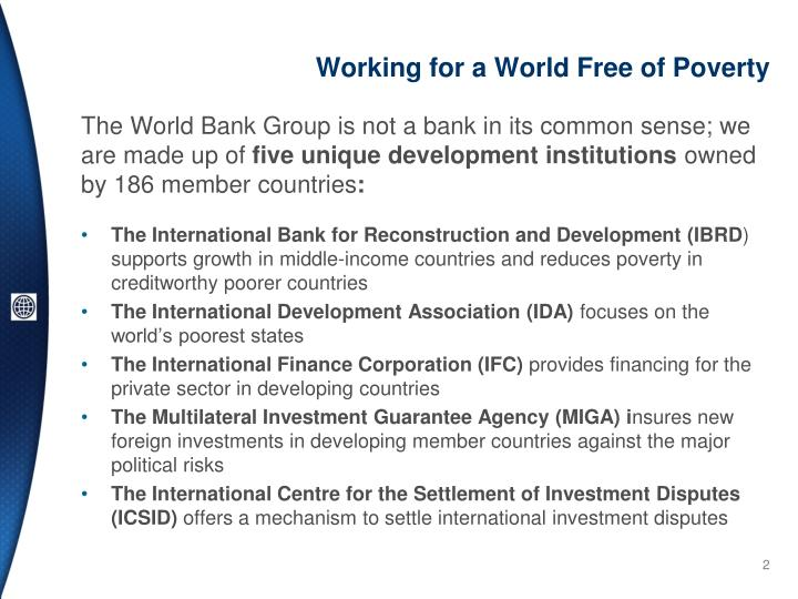 Working for a World Free of Poverty