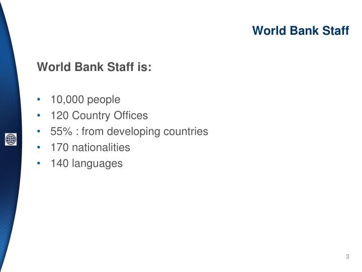 World Bank Staff