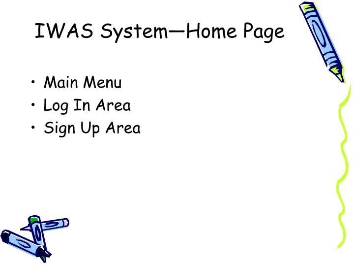 IWAS System—Home Page