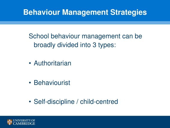Behaviour Management Strategies